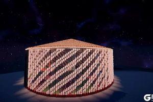 谁说《我的世界》里只有直线 大神用3万个方块证明螺旋的存在